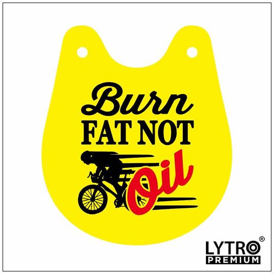 Bike Tag - Burn Fat Not Oil